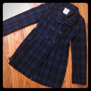 Old Navy plaid Peacoat style jacket extra small